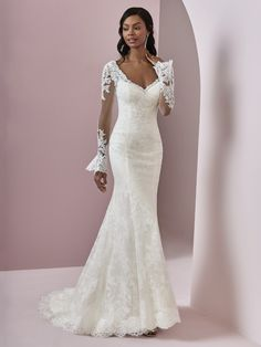 Queenly | Buy and sell prom, pageant, and formal dresses Lace Wedding Dress, Long Sleeve Wedding, Sexy Wedding Dresses, Perfect Wedding Dress, Bridal Dresses, Bridesmaid Dresses, Formal Dresses, Fit And Flare, Sottero And Midgley Wedding Dresses