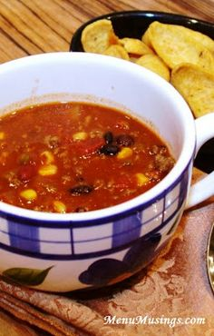 Taco Soup - It is absolutely the simplest thing in the world and amazingly delicious... not to mention very healthy!  Would be a great candidate for the crock pot and for turkey substitution.  Step-by-step photo tutorial included.