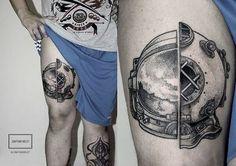 Second tattoo done in dotwork with jonathan weldt.Santa Catarina, Brazil. http://jonathanweldt.tumblr.com/
