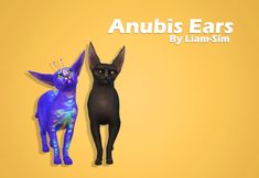 Anubis Large Cat Ears for The Sims 4 by Liamsims