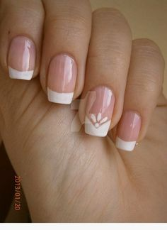 Must Have 130 French Nails Ideas - Best Nail Art French Nails, French Manicure Nails, French Manicure Designs, Manicure E Pedicure, Red Nails, Nail Art Designs, Manicure Ideas, Manicure Pictures, French Gel