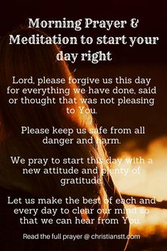 Morning Prayer and Meditation to start your day right