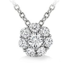 1.00 ct Ladies Round Cut Diamond Pendant / Necklace in 14 kt White Gold « My Brilliant Bauble