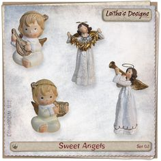 Sweet Angels Set 02 Christmas In July, Angels, Teddy Bear, Toys, Sweet, Toy, Games, Angel