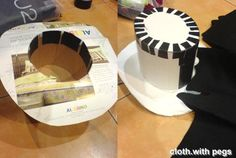 Steampunk Top hat, made from cardboard