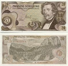 austrian money   This picture is for reference only. It may not be exactly the same ..