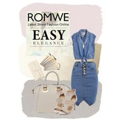 romwe denim shic