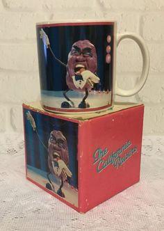 California Raisins Happy Birthday Coffee Mug Cup Collectible Applause 1987 #Applause
