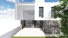 ↳ NUEVO #proyecto ➺ Casa Mia Una #vivienda sencilla y volumétrica. Juego de volúmenes marcados por la materialidad #arquitectura #residencial
