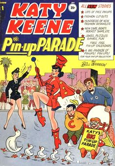 Katy Keene Pinup Parade (1955) comic books. There's a lot of weird stuff going on here.* 1500 free paper dolls at Arielle Gabriels International Paper Doll Society also free paper dolls at The China Adventures of Arielle Gabriel *