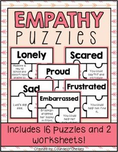 Empathy Activities For Social Skills Lessons Social Skills Lessons, Social Skills Activities, Counseling Activities, Coping Skills, Bullying Activities, Primary School Counselling, Elementary Counseling, School Counselor, Speech Language Therapy