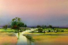 Glaze technique: Kakadu Painting using transparent ©John Lovett Art Aquarelle, Watercolor Artists, Watercolor Landscape, Abstract Landscape, Watercolour Painting, Painting & Drawing, Landscape Paintings, Watercolour Palette, Watercolours