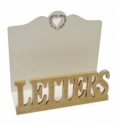 Cream Natural Letter Wooden Rack
