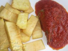 NIGERIAN/GHANAIAN FRIED YAM STEW ~ How to prepare Nigerian Fried Yam with additional recipe for Stew.