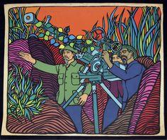 1969 Cuban Original POSTER.Rene Mederos Vietnam War.Ho Chi Minh History Pop art #PopArt