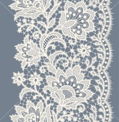 Lace Ribbon Seamless Pattern | Stock Illustration | iStockphoto.com