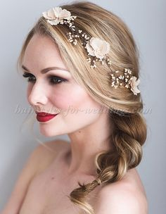 bridal+headbands,+wedding+forehead+band+-+hairvine+for+brides