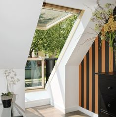 bedroom: OMG! A skylight balcony window? Cash in the retirement savings, I want one!  CABRIO™ balcony roof window (GDL) | VELUX