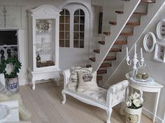 Dollhouse Miniatures and Accessories Shabby Chic Style
