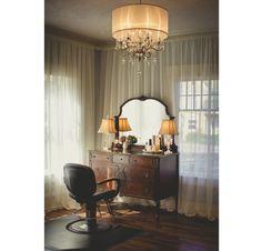Hair Styling | Hair Salon | Chandeliers | Modern Elegance | Vintage Vanity  | Upcycling |