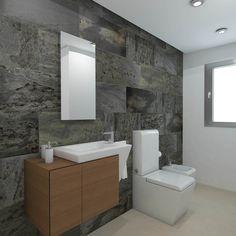 Baño diseñado por Fábrica de Arquitectura para una vivienda unifamiliar en Sevilla. Tanto los materiales como los aparatos sanitarios son de Porcelanosa. Toilet, Bathroom, Gadgets, Sevilla, Architecture, Interiors, Bath Room, Litter Box, Bathrooms