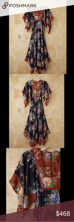 "Free People Vintage Loves Floral Printed xs/xxs Free People Vintage Loves Floral Printed Empire Waist Maxi Dress One Of A Kind silky dress in navy, rust multi colored Vintage floral printed empire waist maxi dress  New Without Tags  *  Measures:  XXS / XS retail price:  $498.00   * One Of A Kind Dress rated by Free People  Shows some light signs of wear on the inside seams, In Good Overall Condition * Please check measurements for fit  14"" under arm to arm * 28"" around 12.5"" sleeve length…"