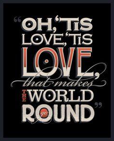 Alice in Wonderland quote by Tom Davie #design #type