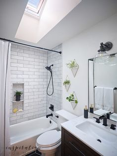 Skylight Discover Small Bathroom Remodel with Velux Skylights - Inspiration For Moms The sun is shining and it looks so good! Come see how our new VELUX skylights have dramatically changed our small bathroom remodel. Bad Inspiration, Bathroom Inspiration, Bathroom Ideas, Bathroom Organization, Budget Bathroom, Cabinet Inspiration, Bathroom Inspo, Bathroom Styling, Organization Ideas