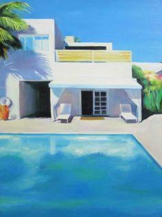 "Saatchi Art Artist Ieva Baklane; Painting, ""Florida sun"" #art"