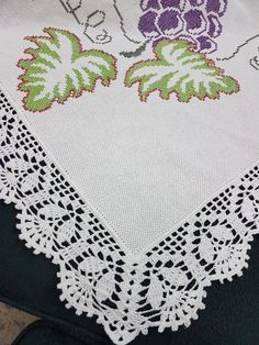 Crochet Edging Patterns Free, Crochet Table Runner Pattern, Crochet Bedspread Pattern, Crochet Lace Edging, Crochet Borders, Crochet Tablecloth, Crochet Chart, Thread Crochet, Filet Crochet
