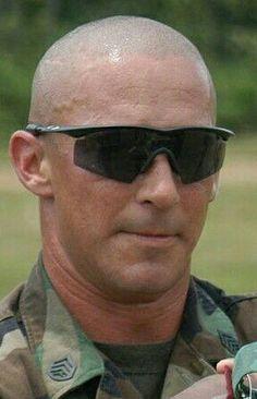 Bald With Beard, Bald Men, Soldier Haircut, Bald Haircut, Warrior Images, Us Coast Guard, Bald Heads, Military Men, Alpha Male