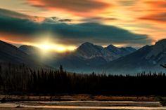 Sunrise on Kootenay National Park, British Columbia, Canada #Kimberley