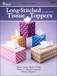 Plastic Canvas - Customer Favorites - Long-Stitched Tissue Toppers