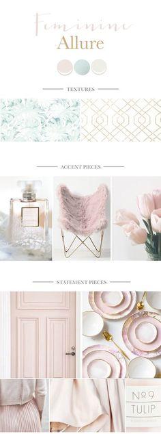Blush pink bedroom mood board inspiration