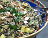 Coconut Quinoa and Wild Rice Salad with Pineapple