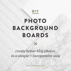 DIY Photo Background Boards