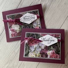 Stampin' Up! Petal Promenade Thank You Card Hand Made Greeting Cards, Making Greeting Cards, Flower Cards, Paper Flowers, Volunteer Appreciation Gifts, Employee Appreciation, Tarjetas Stampin Up, Shower Hostess Gifts, Stamping Up Cards