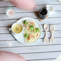 #miniature #food #minifood #spaghetti #pasta #broccoli #soup