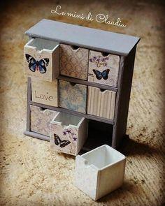 Small drawers #dollshouseminiatures #leminidiclaudia #dollhouseminiature #dollshousefurniture
