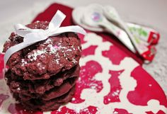 Red Velvet Chocolate Chip Cookies: Slap some cream cheese frosting on top and call it a day! Yummy!
