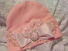 Girl Newborn Baby Pink Hospital Hat Layette by NanaJustbananas, $25.00