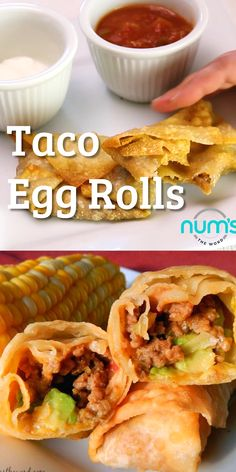 Egg Rolls Taco Taco Egg Rolls can be both a main dish or an appetizer. A taco rolled up into an&; Egg Rolls Taco Taco Egg Rolls can be both a main dish or an appetizer. A taco rolled up into […] lunch main dish Easy Egg Roll Recipe, Egg Roll Recipes, Rolls Recipe, Egg Roll Dough Recipe, Recipes With Egg Roll Wrappers, Eggroll Wrapper Recipes, Mexican Food Recipes, Beef Recipes, Cooking Recipes