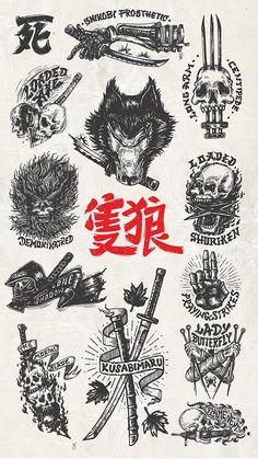 Sekiro Shadows Die Twice Emblem Collection on Behance Old School Tattoo Designs, Japanese Tattoo Designs, Japanese Tattoo Art, Tattoo Designs Men, Tattoo Design Drawings, Tattoo Sketches, Japan Tattoo Design, Black Ink Tattoos, Body Art Tattoos