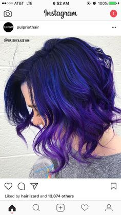 Cool purple and blue hair