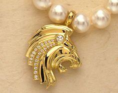 Pandant la comanda zodia Leu-Realizat manual din aur si argin (7)