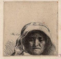 [Retrato de la madre de Rembrandt]. Rembrandt Harmenszoon van Rijn 1606-1669 — Grabado — 1628