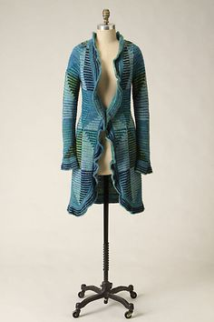 Shades-Of-Blue Sweatercoat by Sleeping on Snow Shades Of Blue, Anthropologie, Dressing, Snow, Clothing, Sweaters, Closet, Vintage, Fashion