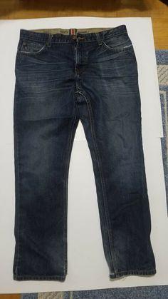 1a6a8bf3f Mens Tommy Hilfiger Size 34 x 30 Rebel Slim Jeans Blue Denim Dark Wash  #fashion