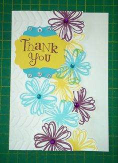 Thank you card - Stampin up