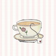 Time for Tea Art Print by Hayley Ferguson   Society6